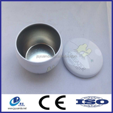 wholesale new design bowl shaped candle tin can/ bowl shaped tin box