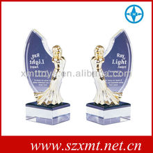 champions league crystal and metal trophy manufacturer