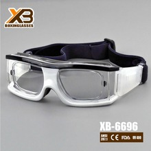 UV400 high quality anti slip basketball glasses with rubber nose pad