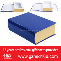 Guangzhou wholesale book shaped paper gift box & paper gift packaging box