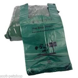 HDPE T-shirt dog poop Bags Plastic Bag high quality blackgreen