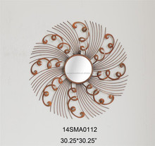 The Pearlette Round Metal Wall Mirror fuses natural inspiration with sleek, contemporary fashion