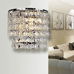 American Country Style crystal Wall Lamp, silver wall light
