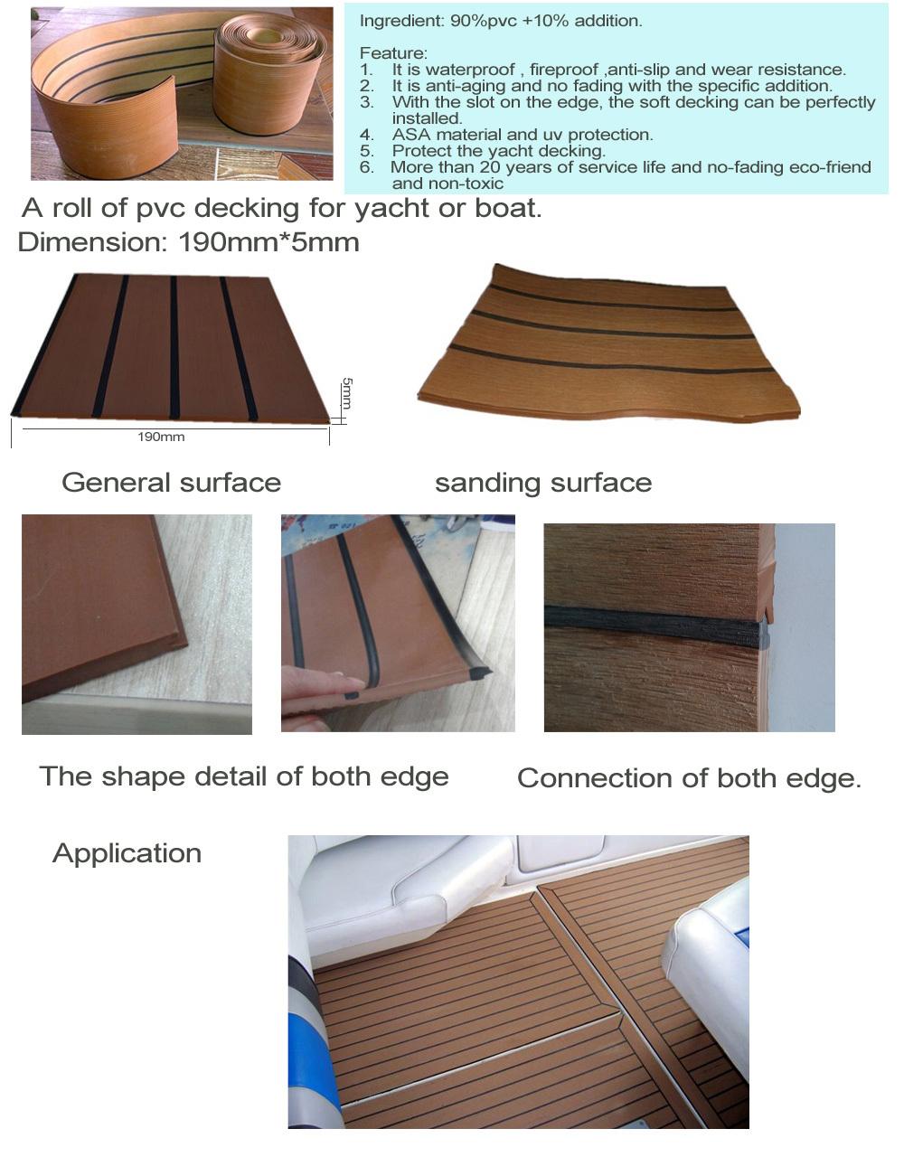Ipe Bois Toxique : Synthetic Teak Boat Flooring Rubber