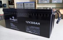 Rechargeable sealed lead acid battery 12v 200ah
