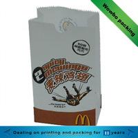 white kraft paper bag for fried chicken