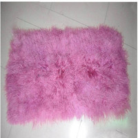 Tibetan Lamb Plate / Sheep Fur White Carpet / Sheepskin