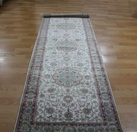 2.5x8ft Pure silk light color persian design modern rugs runner