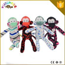 New Arrival Customized Child Soft Toys Stuffed Animals Small Gifts Colorful Plush Monkey