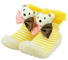 Zapatos de bebé de cuero con suela