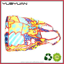 Promotional Eco Reusable recycled Snap pouch design Polyester OEM ball shaped folding shopping bag