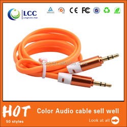 New premium car subwoofer 3.5mm stereo aux cable audio video cable for ps3 ps4