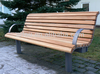 FW39 Long Life Span WPC Bench Outdoor Furniture Series