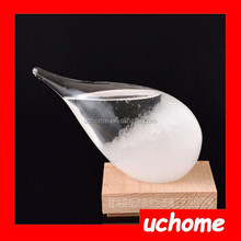 UCHOME Storm drops bottle storm Glass Hourglass bottle Creative Weather Forecast Bottle