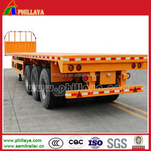 40-60Ton Flat Bed Semi Trailer With Side Wall and Container Lock Optional