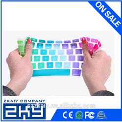 SZZKAIY-00326 OEM custom colorful silicone keyboard cover for mac silicone keyboard covers with factory price