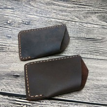 wnu9093c real leather thin card holder wallet ID case wallet
