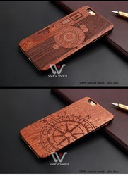 Bulk Buy OEM Wholesale PC Mobile Phone Cases Wood Blank Back Cover,Laser Engraved LOGO cherry Wood Phone Case for iPhone 6