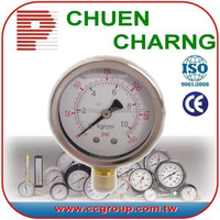 SEMI STAINLESS STEEL LIQUID FILLED OIL PRESSURE GAUGE
