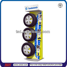 TSD-M105 Custom promotional car tyre display,car show display stand,wheel rim display rack