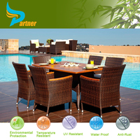 2015 Hot Sale 6 Seater Patio Furniture Outdoor Compact Philippines Sala Fiber Dining Philippine Dining Table Set