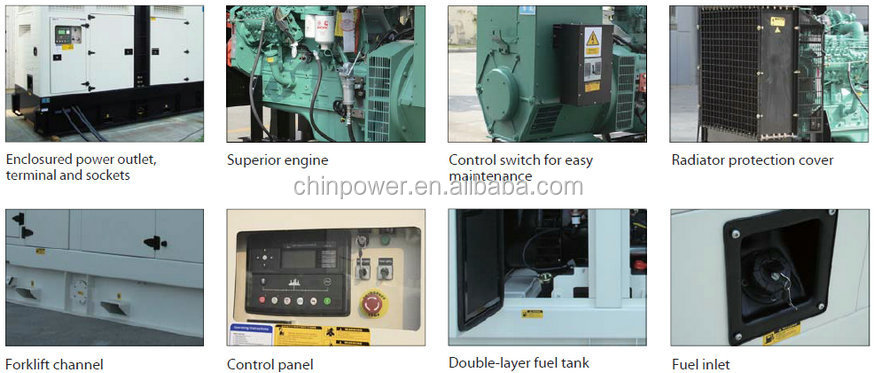 500KVA 400kw soundproof economic diesel generator