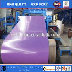 ppgi/color coated steel coil/ pre dipped galvanized steel pipe