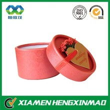 Round Shaped Paper Wedding Candy Boxes Favor Packaging Cans