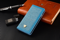 Blue Colourful fabric case, checkered fabric design case, wallet cover for iphone