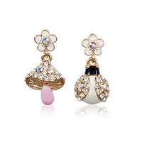 Charm glazes earring of dissymmetry earring hook costume jewellery for women