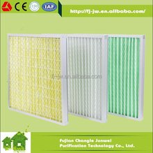 Medium efficiency pleated filter panel, air intake filter F5 F6 F7 F8 F9