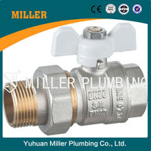 ML-2012 High competitive Patent products full certifications DN80 brass Ball valve