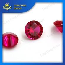 Wuzhou factory wholesale cheap Brilliant Round Cut man made rubies