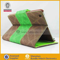 cell phone case for iPad mini three color folded stand
