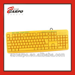 High quality durable yellow apple wireless keyboard with low price alibaba in russian T912
