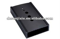 black aluminum extrusion profile/shell