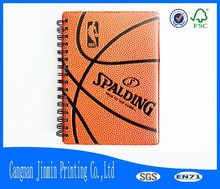 SPALDING leather cover sprial notebook for promotional