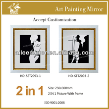 Black and white painting craft art picture
