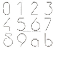 European style Stainless Steel Invisible Screw Door House Number dia10mm