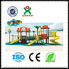 2015 Hot sale adventure playgrounds custom rubber playground ball modular playground QX-11026B
