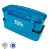 plastic clear lock compartment plastic double layer bento lunch box on sale