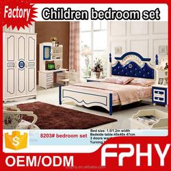 Factory supply korean-Style 8203# MDF Wooden furniture OEM german bedroom sets