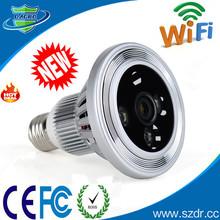 H317-Newest Lamp Bulb Housing H.264 TF Card Hidden CCTV Camera Wifi Hidden Camera