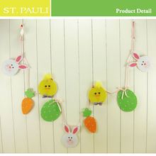 7 2inch length removable hanging chick egg and rabbit carrot easter felt garland