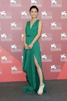 Charlene Choi Green Prom Evening Dress Venice Film Festival 2011 Red Carpet 0