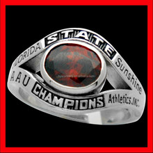 baseball state championship ring silver/ stainless steel cheap with top quality