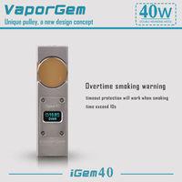 Cheapest price rotate knob adjustable e-cig igem 40 wax atomizer exgo w3