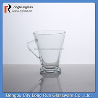 LongRun 2015 New Product 9oz shaped coffee glass mug,cup with stem glass cup wholesale