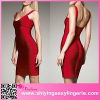 Red U Neck designer evening gowns mumbai women bandage dress plus size sexy bandage dresses
