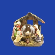 Home Decoration Resin Jesus Birth House Unique Snow Globe